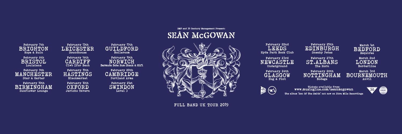 Sean McGowan announces full band UK tour