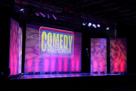 View of stage at Trowbridge Civic.