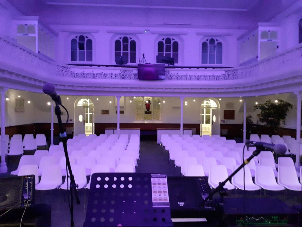 View from the stage, at Emmanuel's Yard, Trowbridge.
