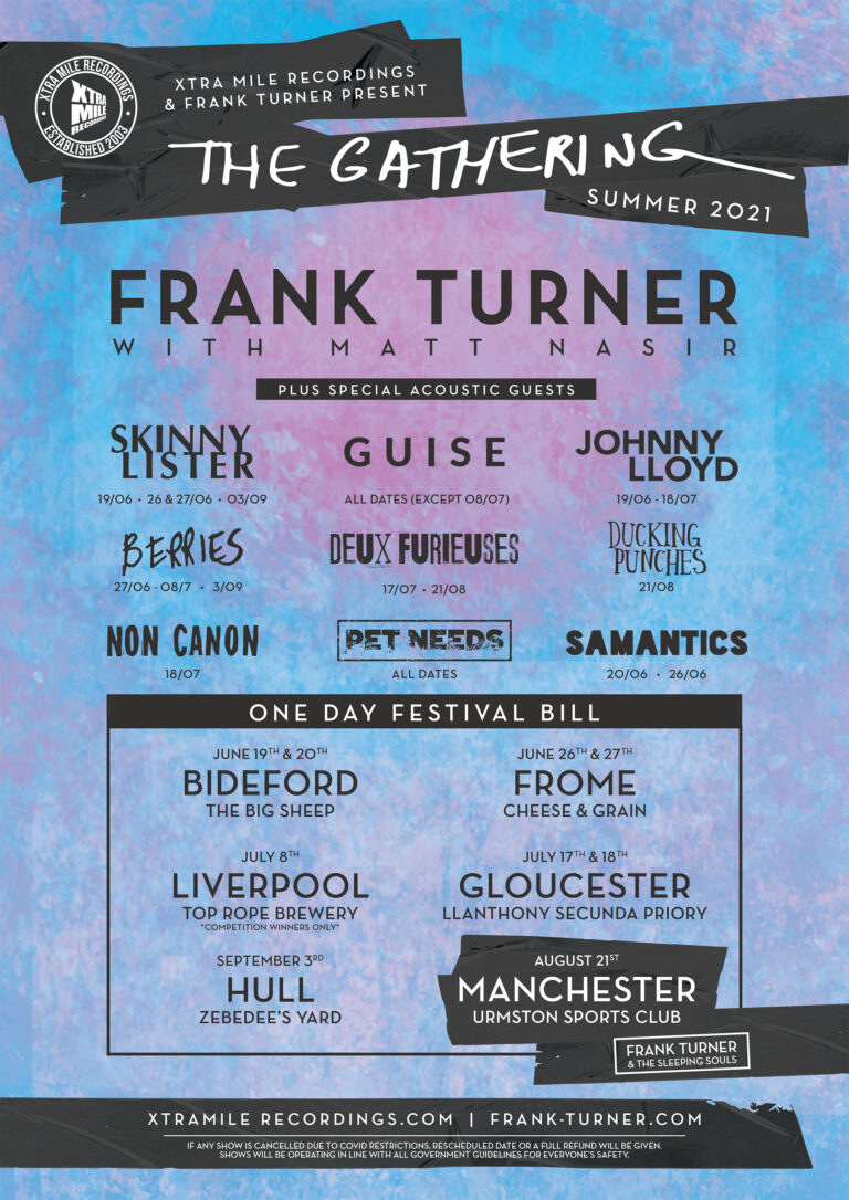 """Frank Turner announces """"The Gathering"""" live shows."""